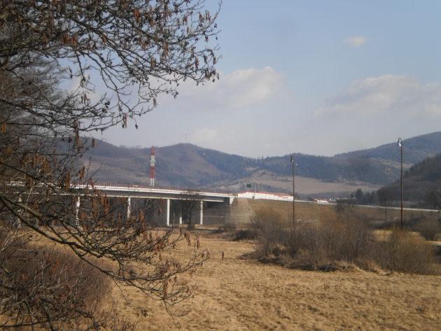 Pohľad od železničného mosta-